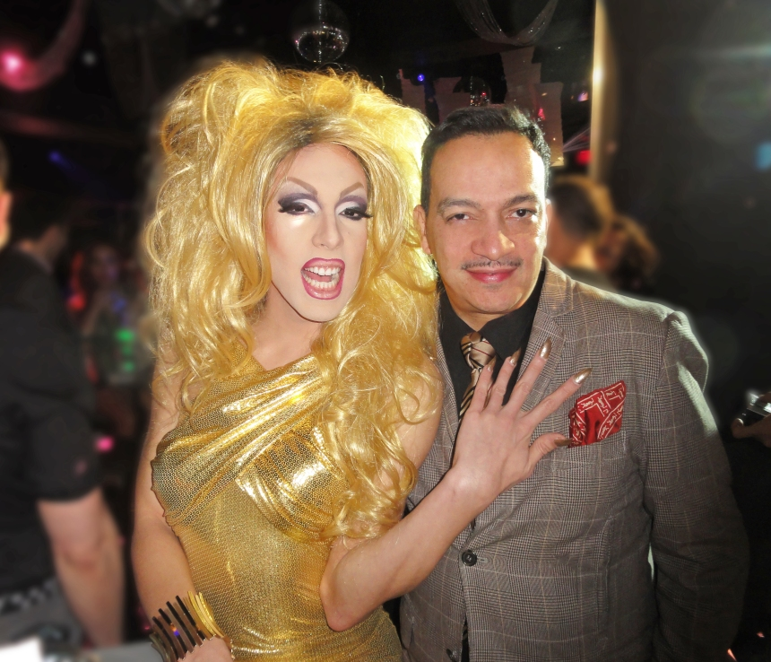 Alaska and Anthony Rubio at the premiere party for RuPaul's Drag Race Season 5 at XL Nightclub