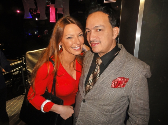 Anthony Rubio and Drita D'Avanzo of Mob Wives at the premiere party for RuPaul's Drag Race Season 5 at XL Nightclub