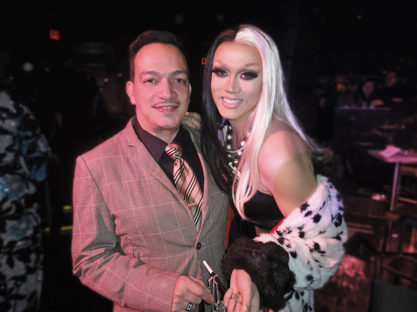 Anthony Rubio and Manila Luzon at the premiere party for RuPaul's Drag Race Season 5 at XL Nightclub