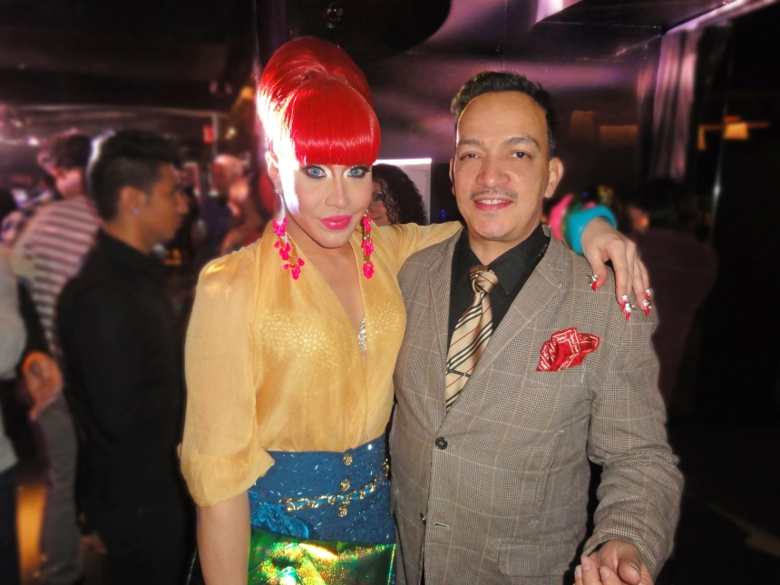 Anthony Rubio and Phi Phi O'Hara at the premiere party for RuPaul's Drag Race Season 5 at XL Nightclub