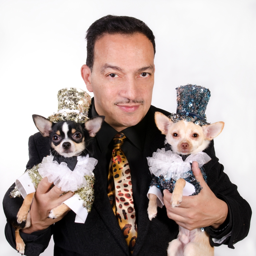 Anthony Rubio with Bogie and Kimba (Photo by www.StrikingPaws.com)
