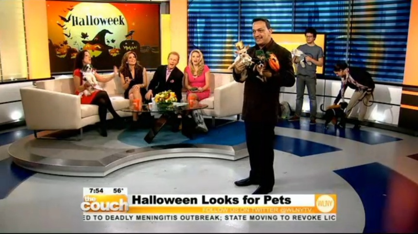 Anthony Rubio on CBS Live From The Couch Halloween Dogs 2