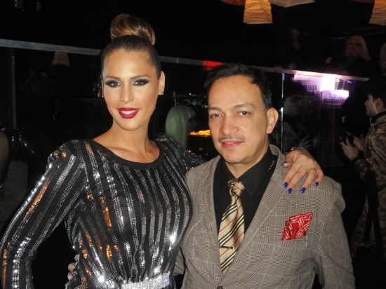 Anthony Rubio with Carmen Carrera at the premiere party for RuPaul's Drag Race Season 5 at XL Nightclub
