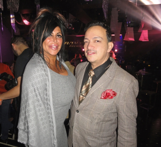 Anthony Rubio and Angela Big Ang Raiola of Mob Wives at the premiere party for RuPaul's Drag Race Season 5 at XL Nightclub