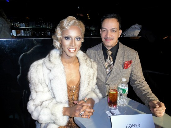 Honey Mahogany and Anthony Rubio at the premiere party for RuPaul's Drag Race Season 5 at XL Nightclub