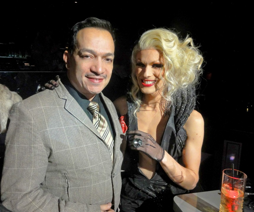 Ivy Winters and Anthony Rubio at the premiere party for RuPaul's Drag Race Season 5 at XL Nightclub