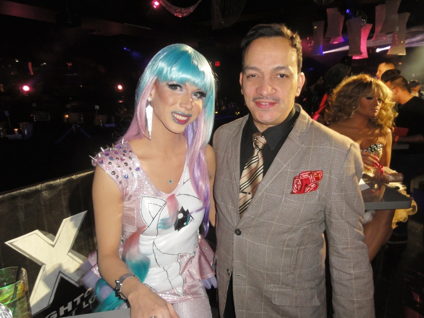 Jade Jolie and Anthony Rubio at the premiere party for RuPaul's Drag Race Season 5 at XL Nightclub