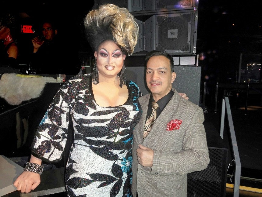 Penny Tration and Anthony Rubio at the premiere party for RuPaul's Drag Race Season 5 at XL Nightclub