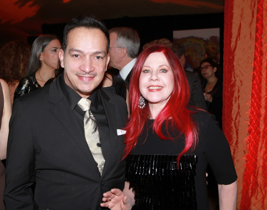 Anthony Rubio with Kate Pierson at the We Are Family Foundation Gala