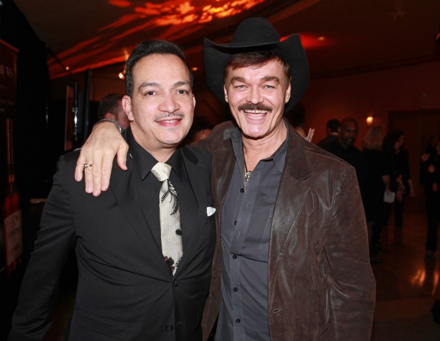 Anthony Rubio with Randy Jones of The Village People at the We Are Family Foundation Gala