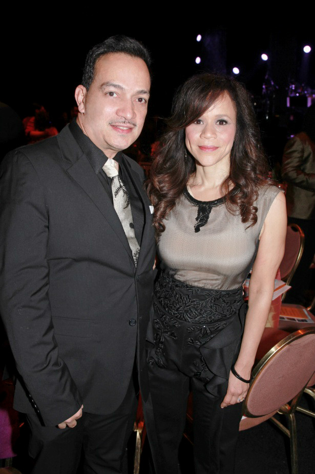 Anthony Rubio with Rosie Perez at the We Are Family Foundation Gala