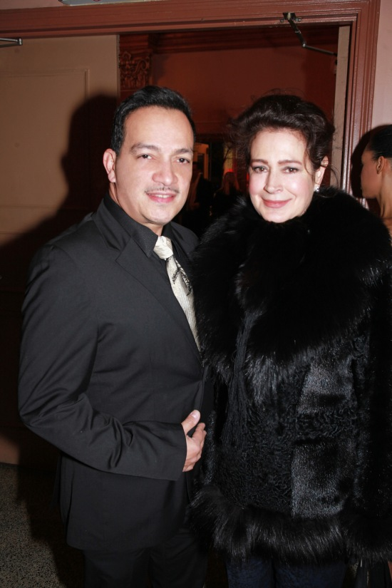 Anthony Rubio with Sean Young at the We Are Family Foundation Gala