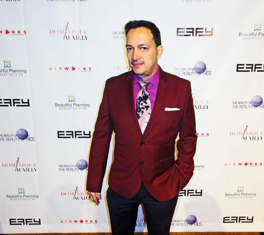Anthony Rubio at The Reality Of Fashion benefit for Broadway Cares