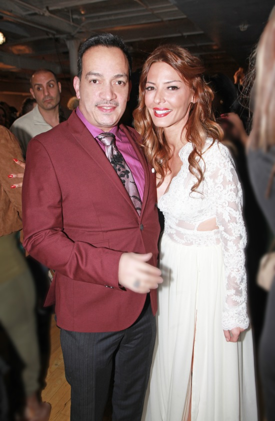 Anthony Rubio with Drita D'Avanzo (Mob Wives) at The Reality Of Fashion benefit for Broadway Cares