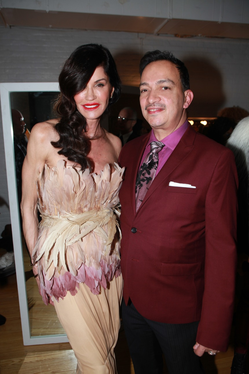 Anthony Rubio with Janice Dickenson at The Reality Of Fashion benefit for Broadway Cares