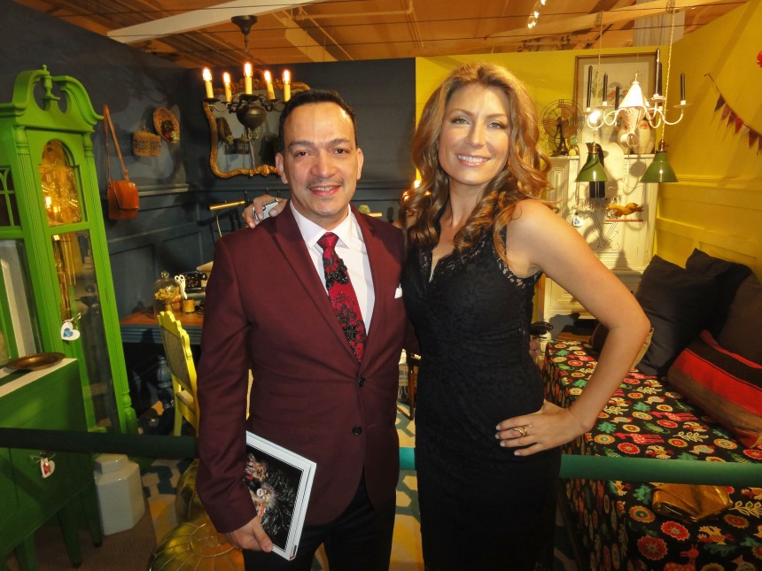 Anthony Rubio with Genevieve Gorder at the 2013 Housing Works Groundbreaker Awards