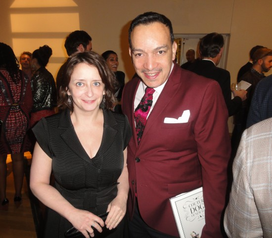 Anthony Rubio with event host Rachel Dratch at the 2013 Housing Works Groundbreaker Awards