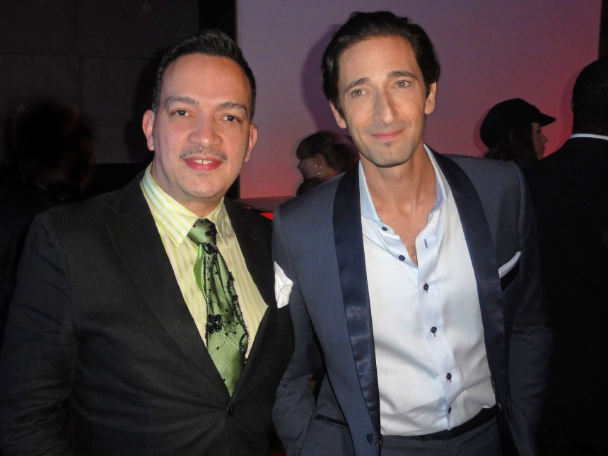 Anthony Rubio with Adrien Brody at Bombay Sapphire's Imagination Series Film World Premiere