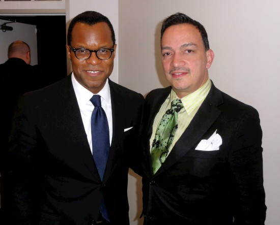 Anthony Rubio with  writer Geoffrey Fletcher at Bombay Sapphire's Imagination Series Film World Premiere