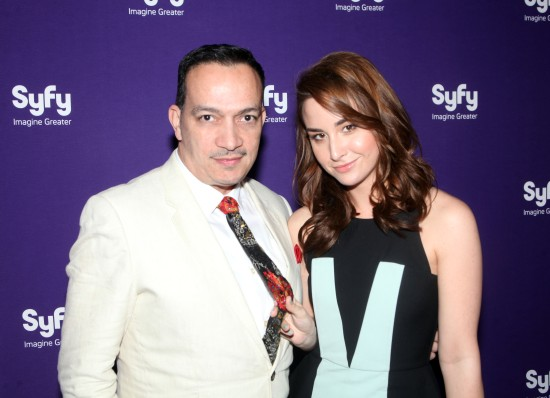 Anthony Rubio & Allison Scagliotti from TV show Warehouse 13 attends Syfy Network's Premiere Party