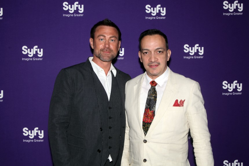 Anthony Rubio with Grant Bowler from Syfy's TV show Defiance