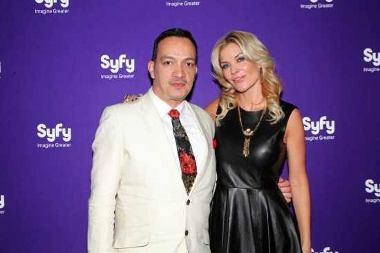 Anthony Rubio and  McKenzie Westmore, the host of Syfy's hit show Faceoff