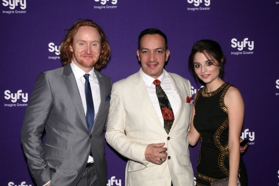 Anthony Rubio with Stephanie Leonidas (TV show Defiance) and  Tony Curran (TV show Defiance).