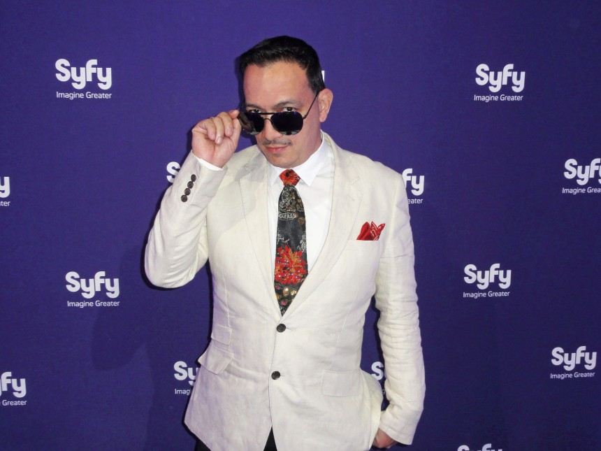 Anthony Rubio on the red carpet at Syfy Network's Premiere Party for Defiance