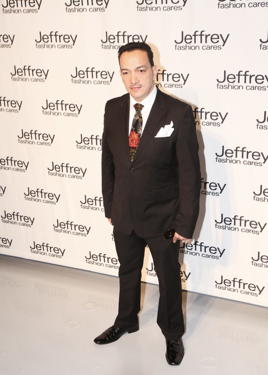 Anthony Rubio on the red carpet at Jeffrey Fashion Cares 10th Anniversary Celebration