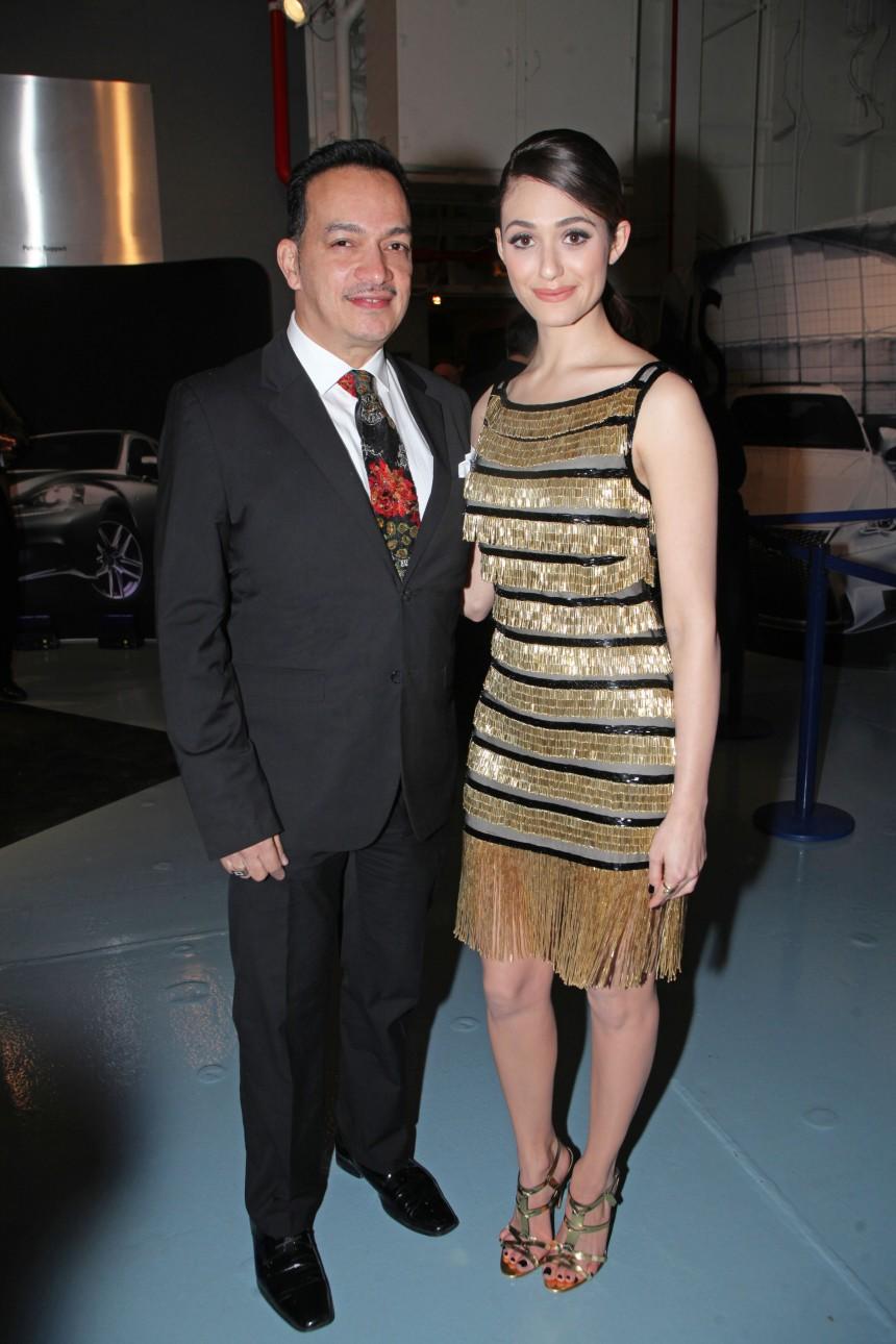 Anthony Rubio and Emmy Rossum at Jeffrey Fashion Cares 10th Anniversary Celebration