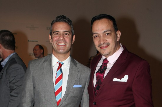Anthony Rubio with Andy Cohen at the 2013 Housing Works Groundbreaker Awards
