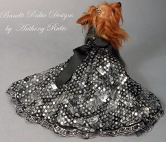 Anthony Rubio's Black Silk Ball Gown with Silver Seguins