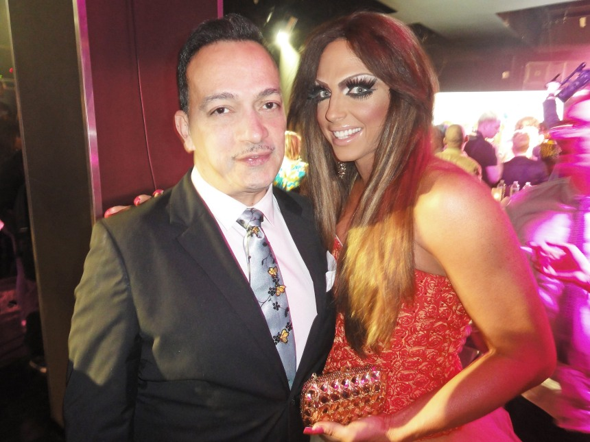 Anthony Rubio and Alyssa Edwards at  RuPaul's Drag Race Season 5 Finale Party in New York