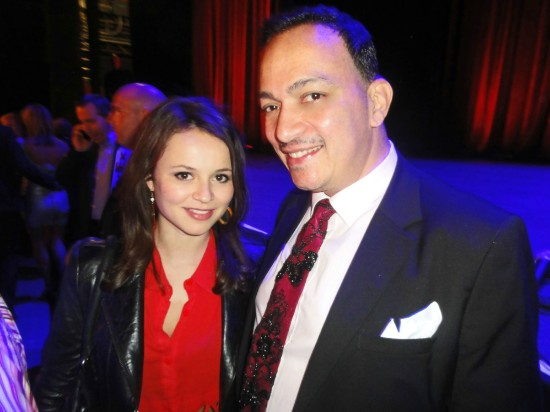 Anthony Rubio and Sasha Cohen at Stand Up For A Cure 2013