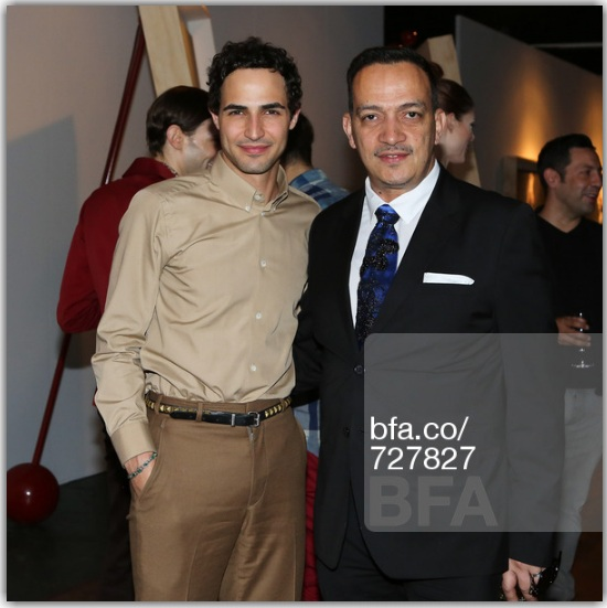 Anthony Rubio and Zac Posen at Steven Sebring's Revolution Opening Reception