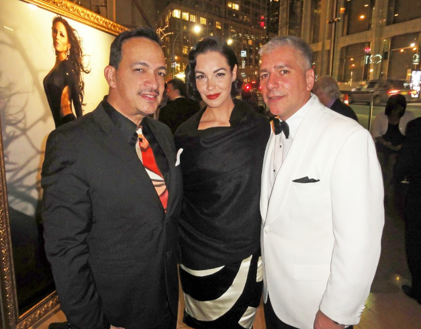 Anthony Rubio, Tammy Blanchard and Michael Farinella at Markus + Indrani's Icons Exhibit
