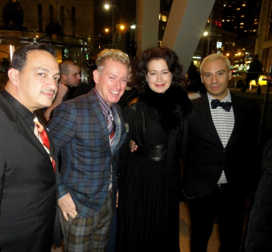 Anthony Rubio, actress Sean Young and Victor De Souzaat at Markus & Indrani's Icons Exhibit and Book Launch Party