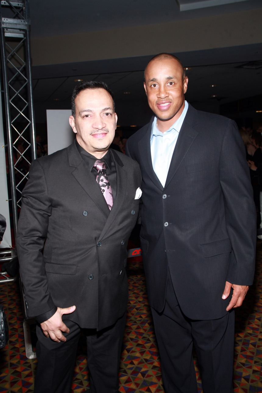 "Anthony Rubiowith John Starks at the ""Once Upon A Time In Brooklyn"" Premiere party"
