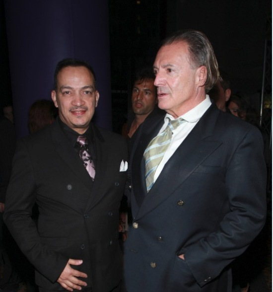 "Anthony Rubio with actor Armand Assante at the ""Once Upon A Time In Brooklyn"" Premiere Party"
