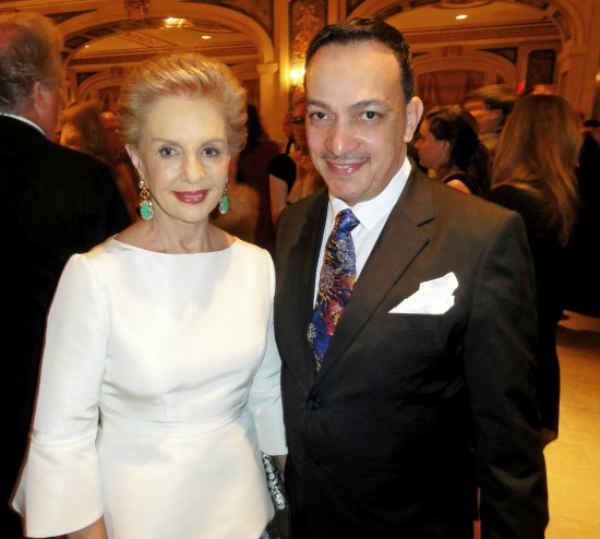 Anthony Rubio with Carolina Herrera at The ASPCA 16th Annual Bergh Ball