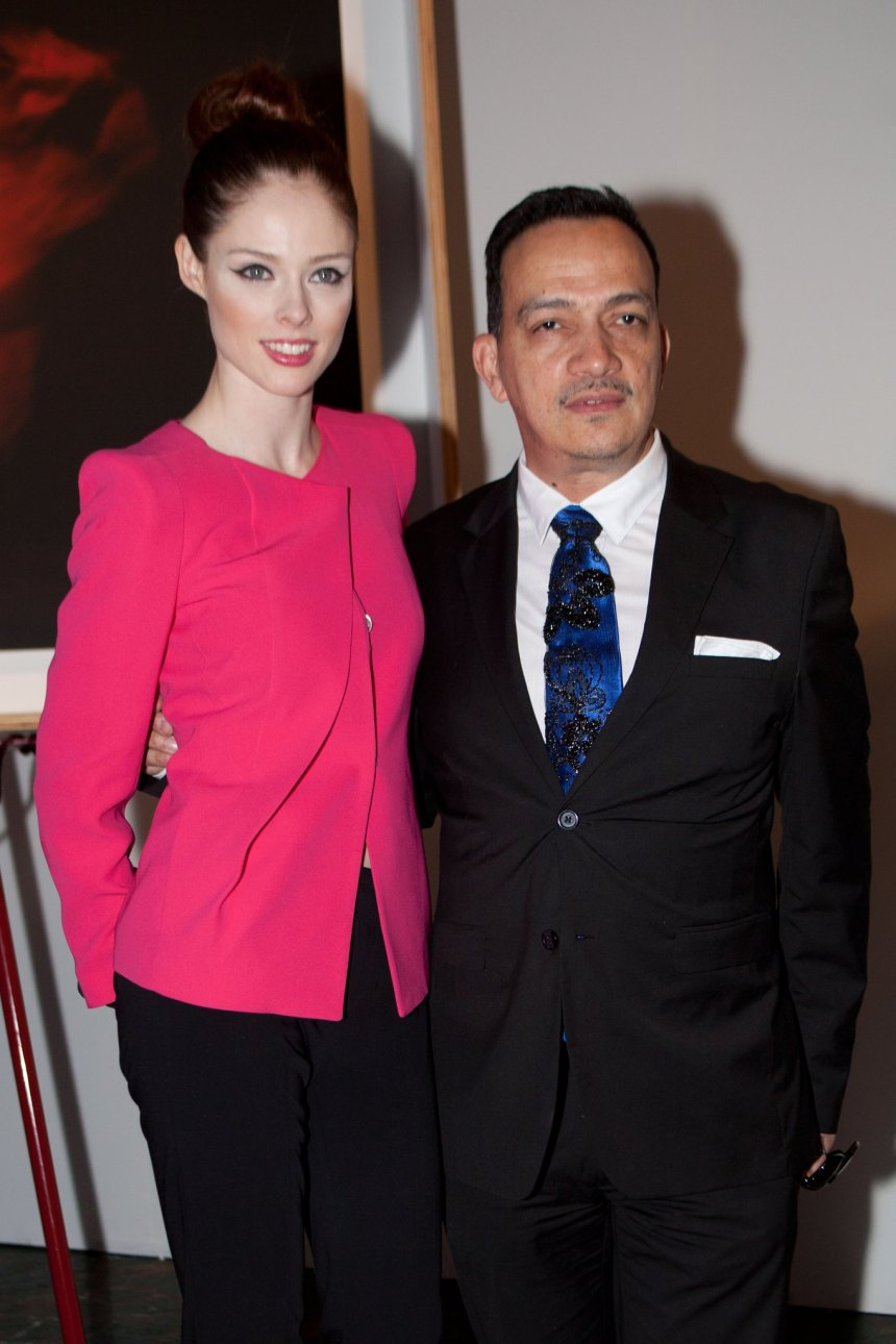 Coco Rocha and Anthony Rubio at Steven Sebring's Revolution Opening Reception