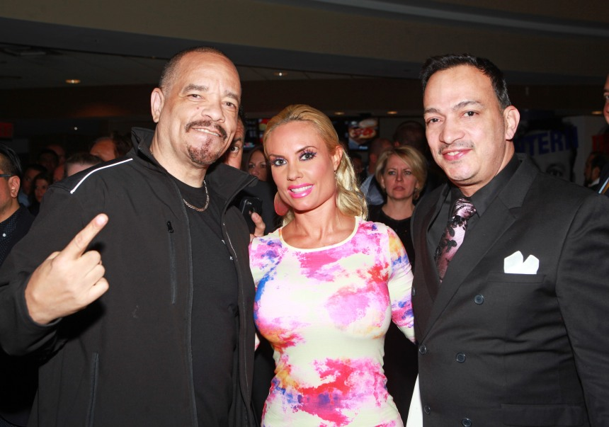"Ice-T, Coco Austin and Anthony Rubio at the ""Once Upon A Time In Brooklyn"" Preimere party"