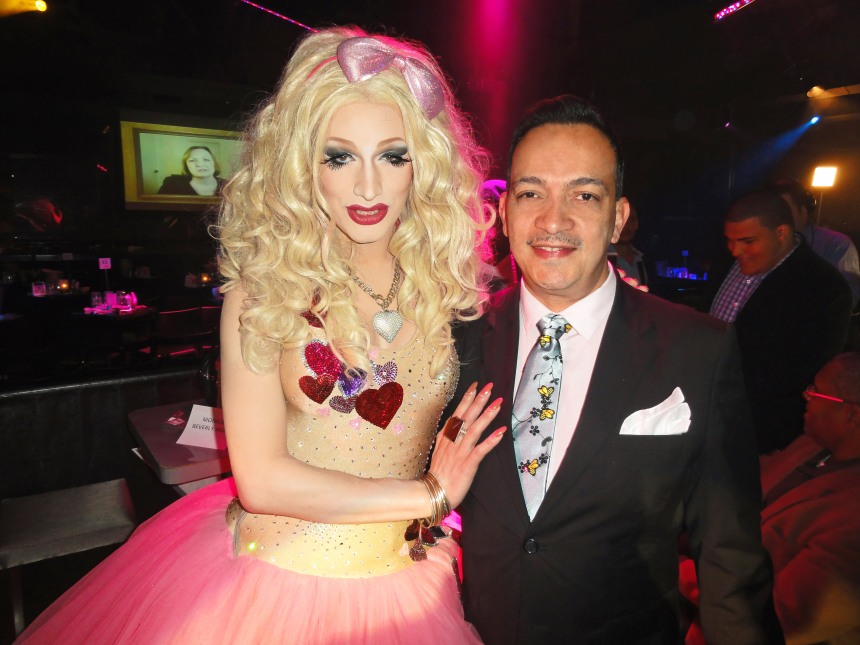 Anthony Rubio with winner Jinkx Monsoon at  RuPaul's Drag Race Season 5 Finale Party in New York
