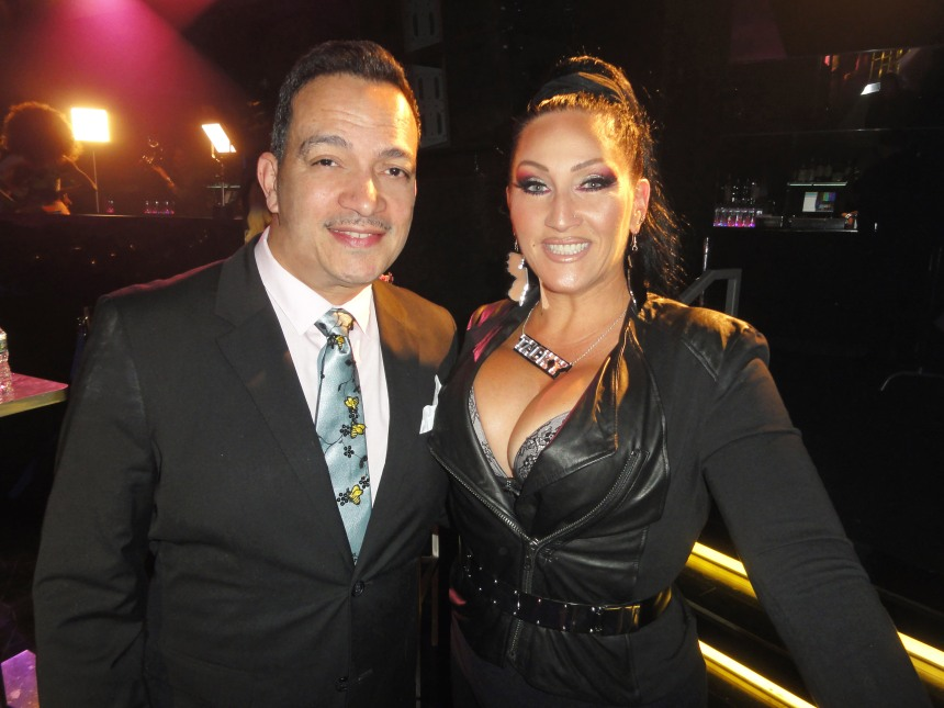 Anthony Rubio with Michelle Visage at  RuPaul's Drag Race Season 5 Finale Party in New York