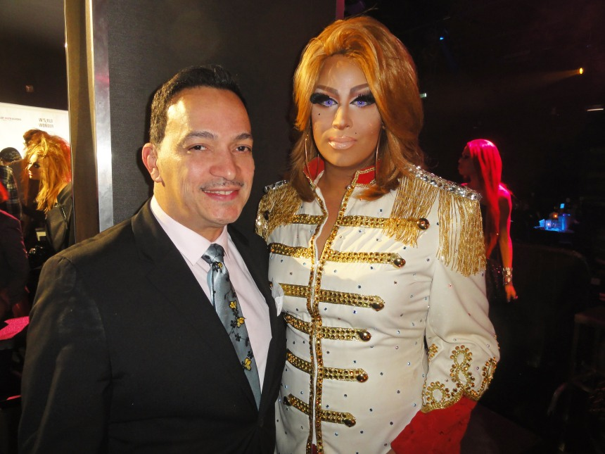 Anthony Rubio with Roxxxy Andrews at  RuPaul's Drag Race Season 5 Finale Party in New York