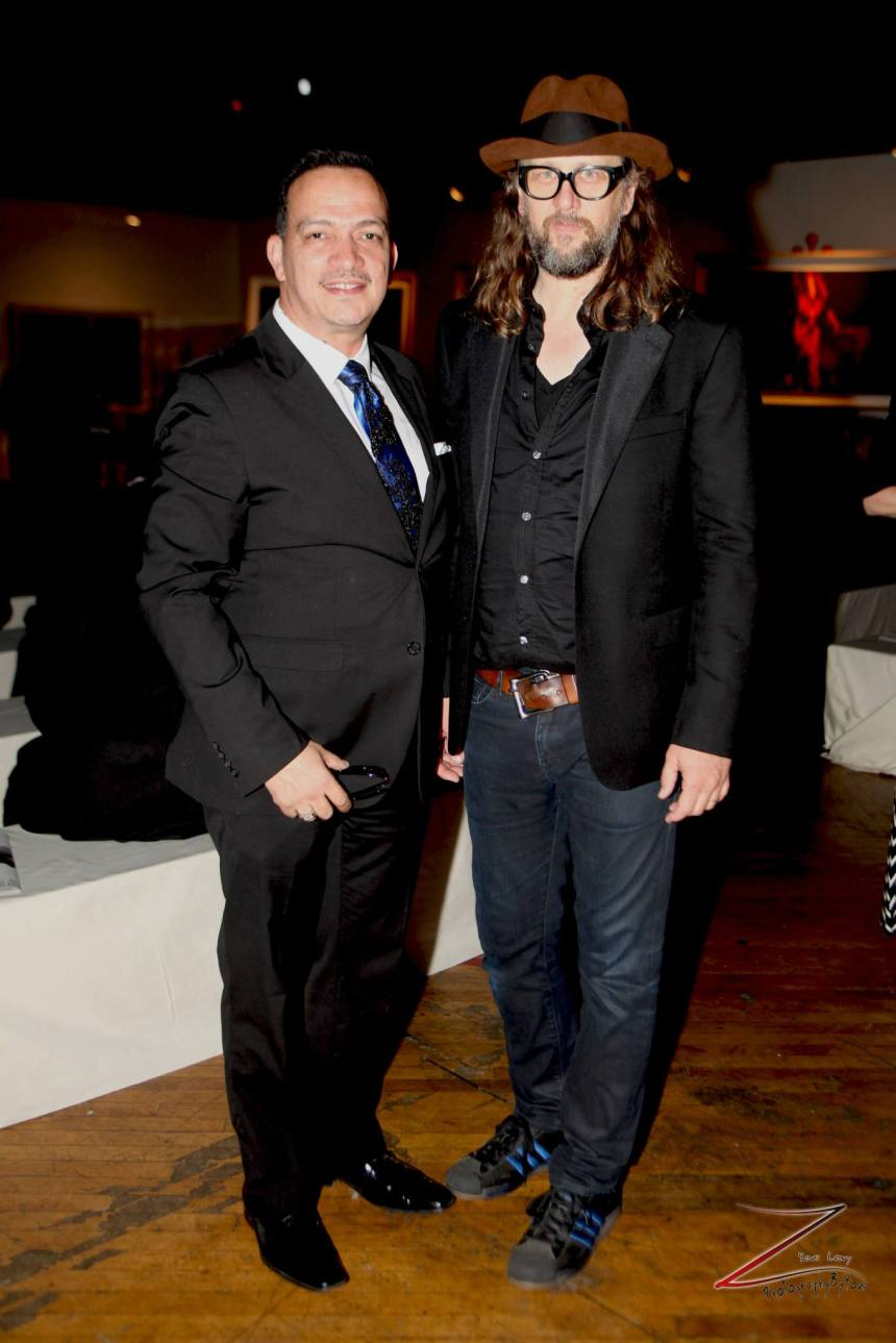 Anthony Rubio with Steven Sebring at Steven Sebring's Revolution Opening Reception