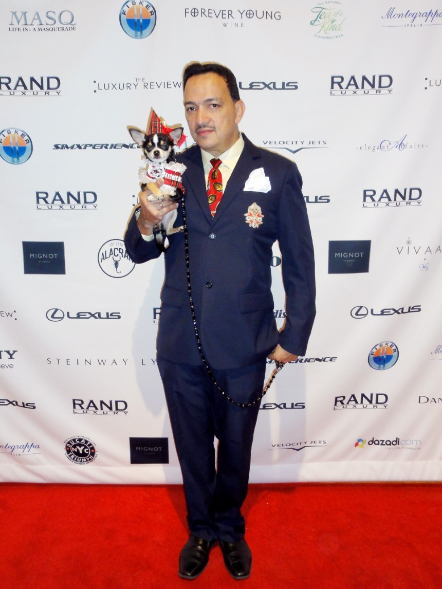 Anthony Rubio with Bogie at The Luxury Review