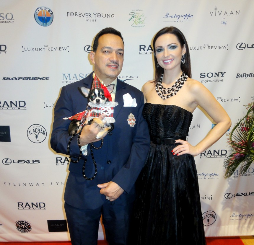 Anthony Rubio with model Anna Maria at The Luxury Review