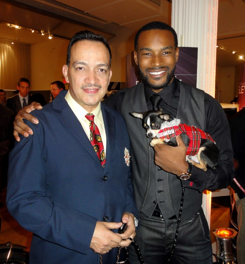 Anthony Rubio with Tyson Beckford at The Luxury Review