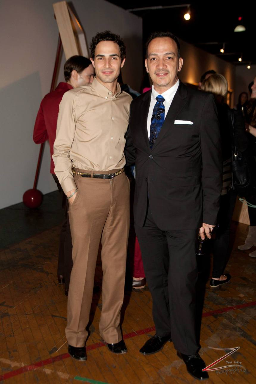Zac Posen and Anthony Rubio attend Steven Sebring's Revolution Opening Reception